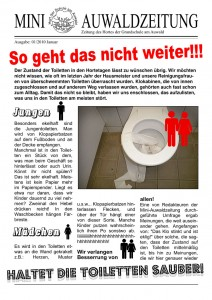 Mini-Auwaldzeitung 01/2010 Titelseite